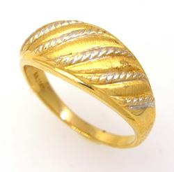 Two-Tone Gold Twist Ring, Size 6.25