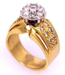 Dazzling .75CTW Diamond Ring in Gold, Size 6.25