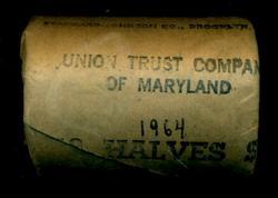 1966 Original Bank-Wrapped Roll BU Kennedy Half Dollars