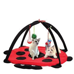 Pet Cat Play Bed Activity Tent Playing Toy Exercise Pad