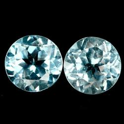 Simply brilliant 3.51ct 7mm pair of Topaz