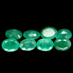 Amazing 8.21ct untreated Emerald set