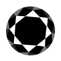 Real 2.55ct unheated black Diamond