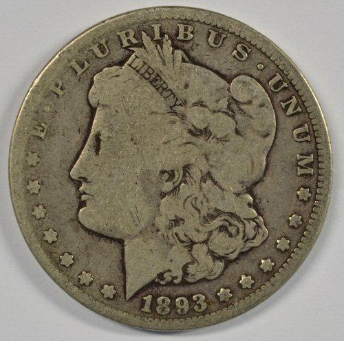 Rare key date 1893-CC Morgan Silver Dollar