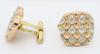 14K Tri-Colored Gold Cuff Links