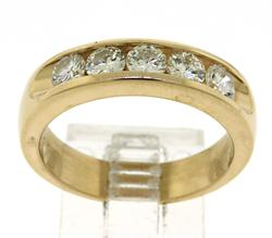 Polished 14kt Diamond Band