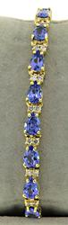 Refined 14kt Tanzanite & Diamond Bracelet