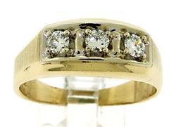 Classic 14kt Gent's Diamond Ring