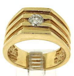 Handsome 14kt Gent's Diamond Ring
