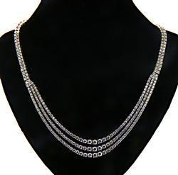 Magnificent 3 Row Diamond Necklace