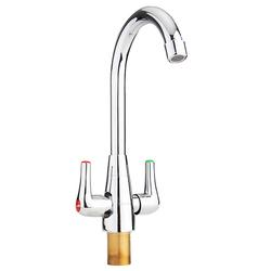 Brass Chrome Finish Kitchen Sink Faucet 360 Rotate Neck