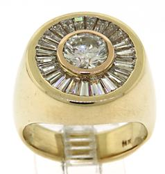 Exquisite 14kt Gent's Diamond Halo Ring