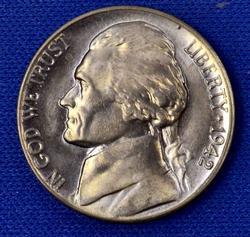 Gem BU Toned 1942 D Jefferson Nickel
