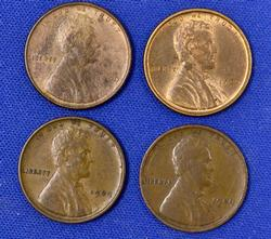 4 Nicer 1909 VDB Cents