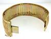 Diamond Cut Tri Gold Wide Bracelet in 18kt