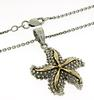 Two Tone Starfish Necklace in Sterling Silver