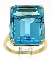Dramatic Topaz Cocktail Ring