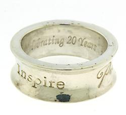Sterling Silver Typography Ring
