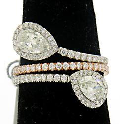 Exquisite 18kt Diamond Bypass Ring