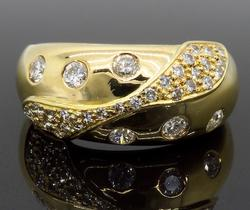 18K Yellow Gold .54CTW Diamond Ring