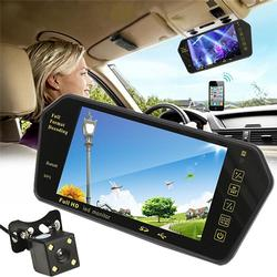 7in LCD Bluetooth Car Rear View Parking Mirror Monitor