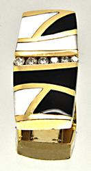 14 KT YELLOW GOLD DIAMOND SLIDE CHARM