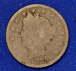 Key 1886 V Nickel