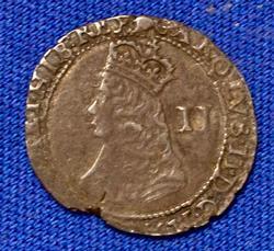 England Charles 11 AR Two Pence ;London .96 gm