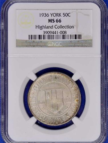 1936 York Comm Half MS66 NGC Highland Collection