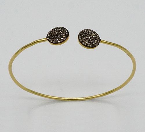 Diamond Sterling Silver Bangle Bracelet