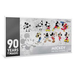 2018 Niue 5g Silver $1 Note Mickey's 90th Anniversary