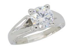 GIA Certified Platinum Diamond Ring