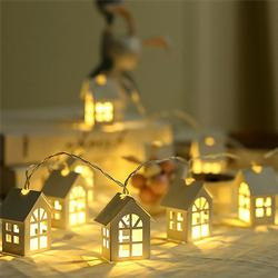 2M Battery Powered Wood House Style Fairy String Light