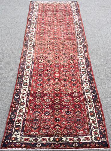 Enchanting 1950s Authentic Handmade Vintage Persian Senneh