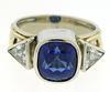 Bold 14kt Tanzanite & Diamond Ring, 8.00 CTW