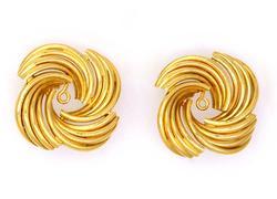 14K Gold Ornate Earring Jackets