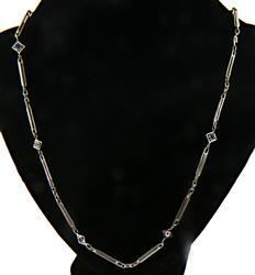 Vintage 18kt Sapphire & Diamond Link Chain