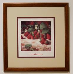 Beautiful Photograveru of Strawberries Decorative art.
