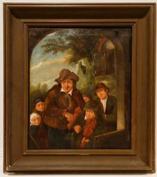 Vintage Dutch School 19th Century Oil On Canvas