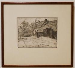 Limited Edition Etching on paper of a Country Landscape