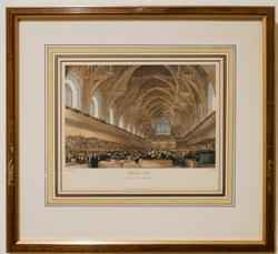 Architectural Chromolithograph of the Westminster Hall