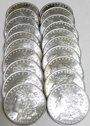 A Full Roll Of Twenty Uncirculated 1886 P Mint Morgan Silver Dollars!