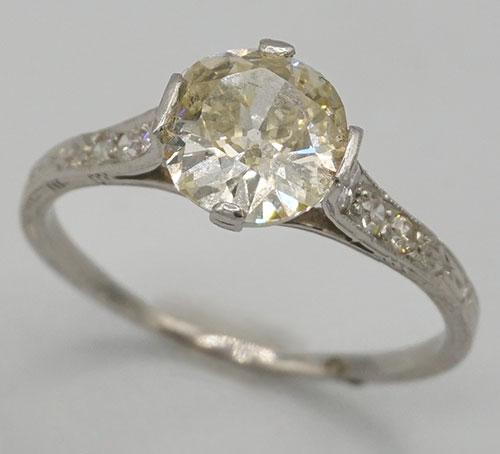 Large Diamond Solitaire Engagement Ring in Platinum