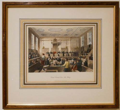 Chromolithograph of the Central Criminal Court London
