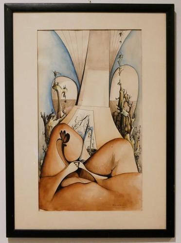 Surrealist Abstract Watercolor