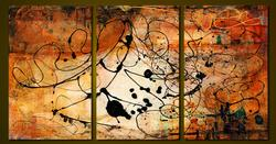 POWERFUL TRIPTYCHABSTRACT BY RICK D'ALESSANDRO