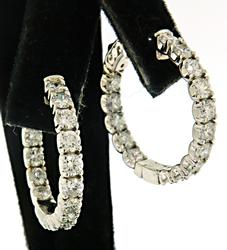 Extraordinary 14kt Diamond Hoops