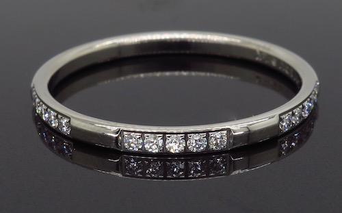 14K White Gold .15CTW Diamond Ring