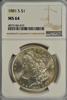 Virtual Gem BU 1881-S Morgan Silver Dollar. NGC MS64
