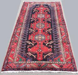 Rare 1950s Armenian Weave Authentic Handmade Vintage Lankoran